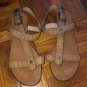 Vince Camuto tan leather sandal with silver studs